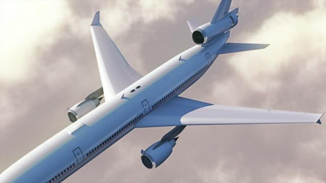 vidéos et rushes de avion au-dessus des nuages. - avion de tourisme