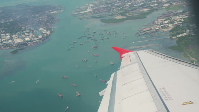 vidéos et rushes de airplane point of view of cebu, philippines - aircraft point of view