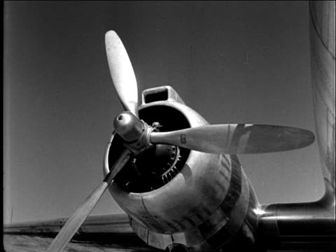 airplane propeller starting up - engine stock videos & royalty-free footage