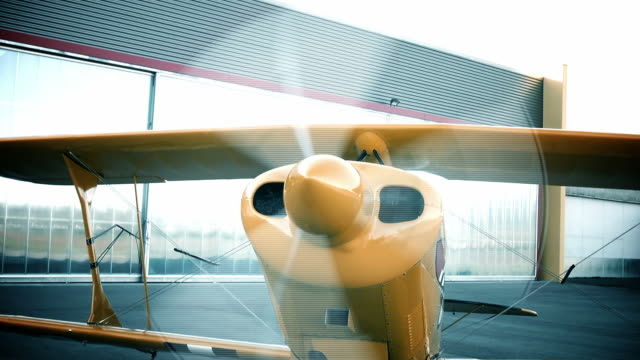 airplane starting prop - propeller stock videos & royalty-free footage