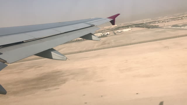 airplane take off from inside - qatar stock videos & royalty-free footage