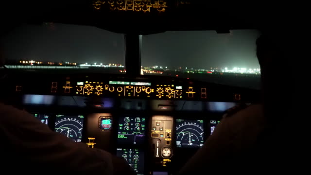 airplane take off new delhi (cockpit pov) - pilot stock videos & royalty-free footage