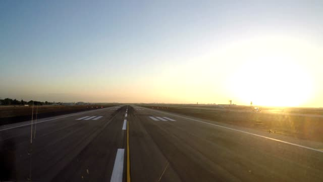 airplane take off (pov shot) time lapse - runway stock videos & royalty-free footage