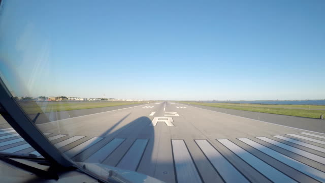 airplane take off (pov) - aerospace stock videos & royalty-free footage