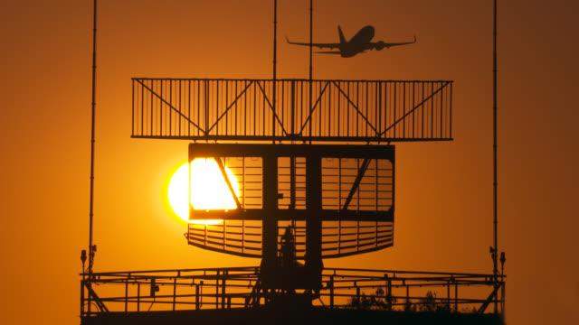 airplane take-off at sunset - radar stock videos & royalty-free footage