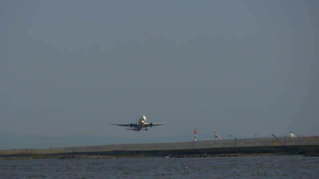 Airplane taking off at Tokyo International Airport