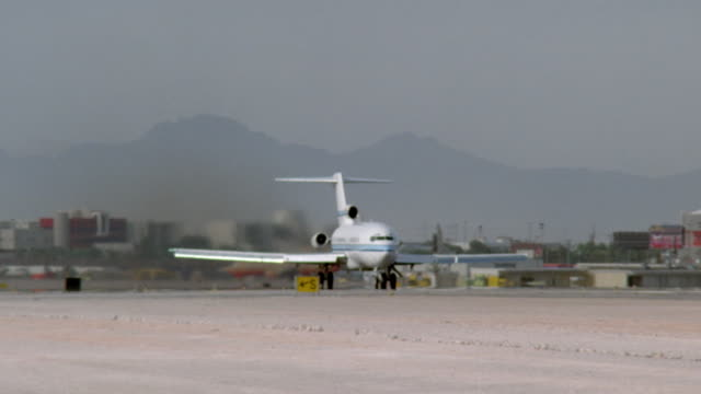 ms, ts, airplane taking off from runway - number 5 stock videos & royalty-free footage