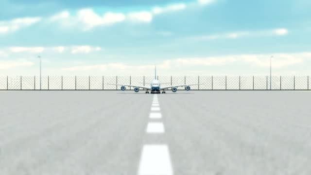 airplane taking off - runway stock videos & royalty-free footage