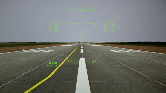 airplane taking off view from pilot control. - pilot stock videos and b-roll footage