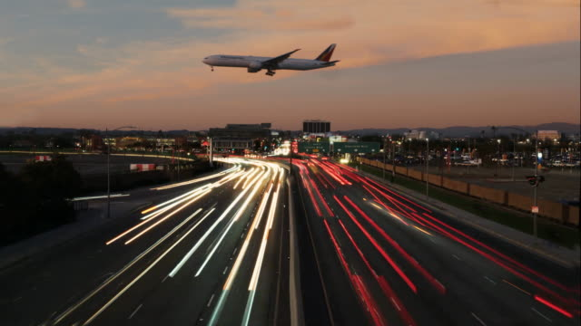 airplane time-lapse - lax airport stock videos & royalty-free footage