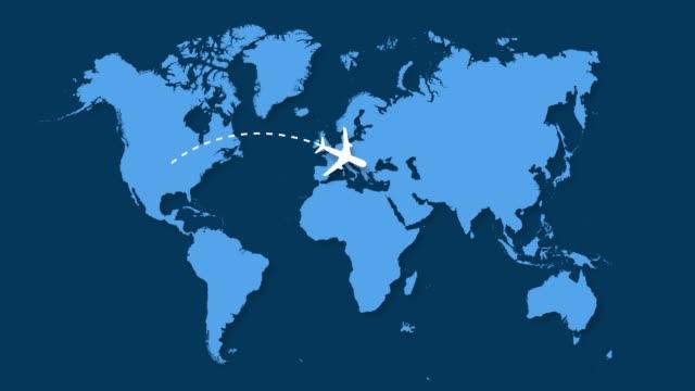 usa airplane to europe - politics illustration stock videos & royalty-free footage