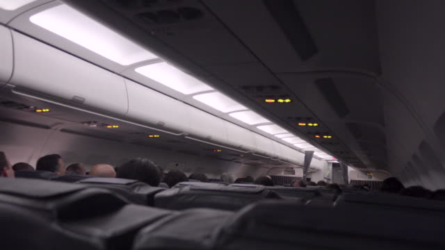 airplane travel indoors - vehicle interior stock videos & royalty-free footage