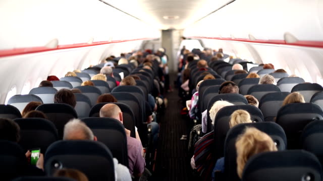 airplane travel - vehicle interior stock videos & royalty-free footage