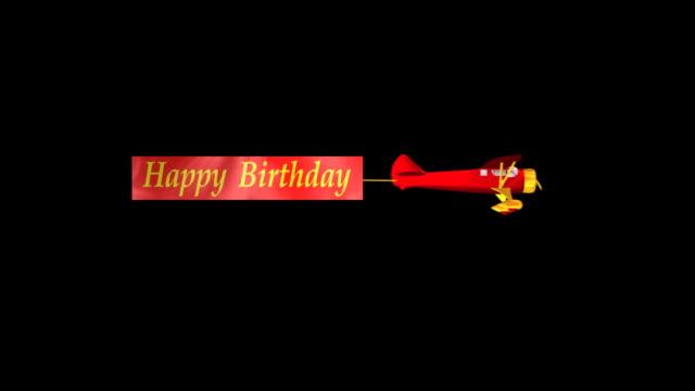 airplane #3 - birthday background stock videos & royalty-free footage