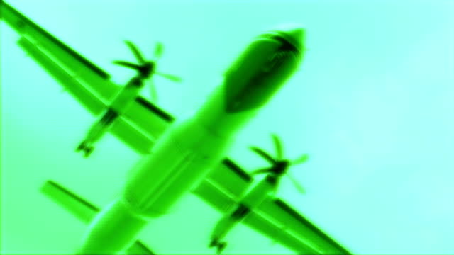 vidéos et rushes de hd : avion (au ralenti - tour de contrôle