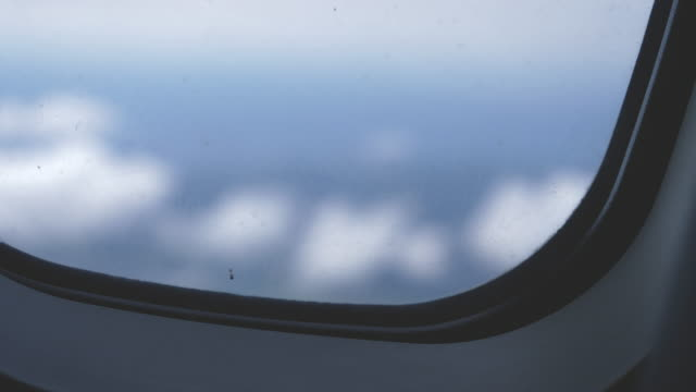 Airplane Window Close Up