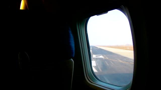 airplane window seat take off - karachi stock videos & royalty-free footage