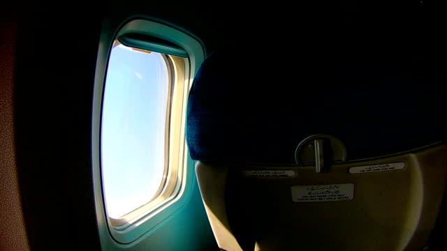 airplane window seat - karachi stock videos & royalty-free footage