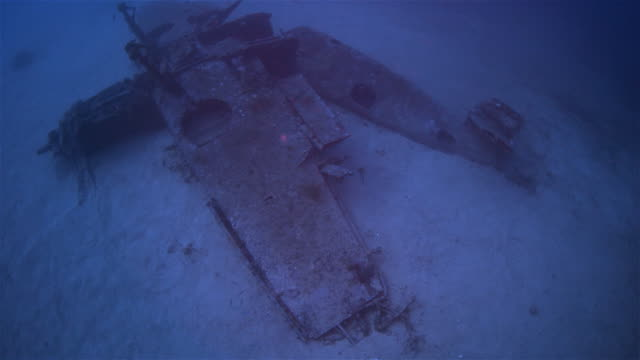 airplane wreck from second world war - military airplane stock videos & royalty-free footage