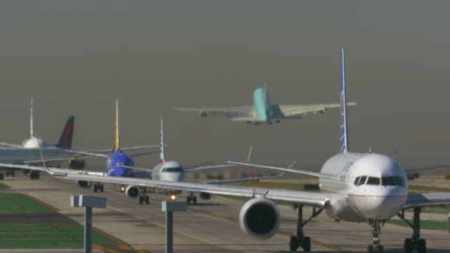 Airplanes Taxi for Takeoff
