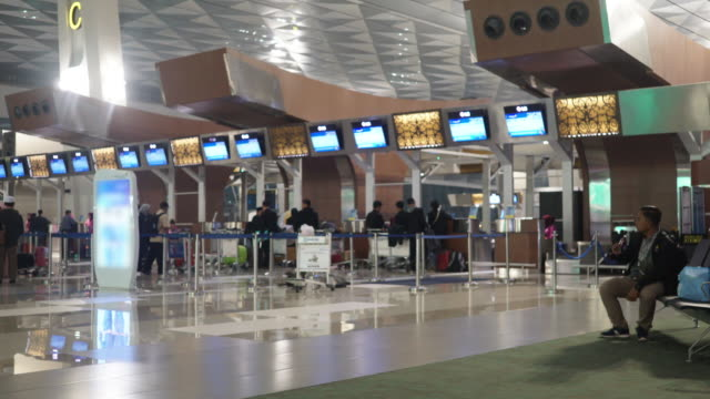 airport check-in counter - airport check in counter stock videos & royalty-free footage