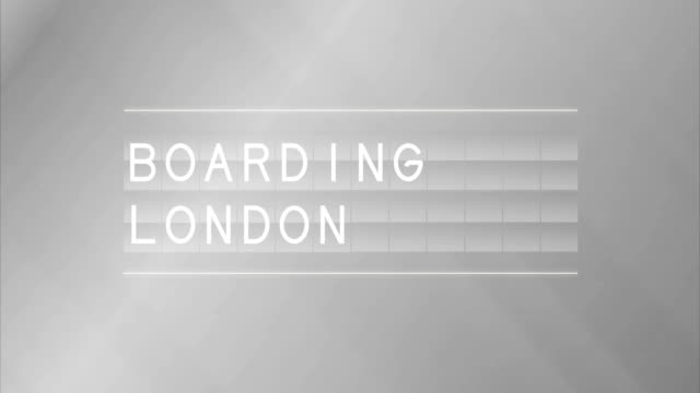 Airport Departure Board and London boarding