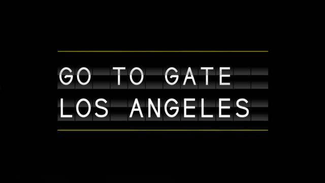 vídeos y material grabado en eventos de stock de aeropuerto salida junta los angeles - señal de información