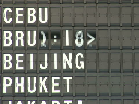 NTSC Airport departure board
