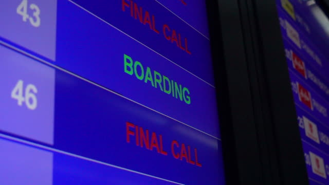 airport departure board - blackboard stock videos and b-roll footage