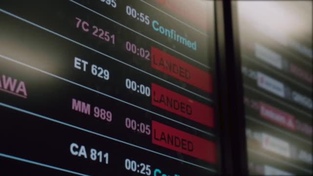 Tableau des départs de l'aéroport.