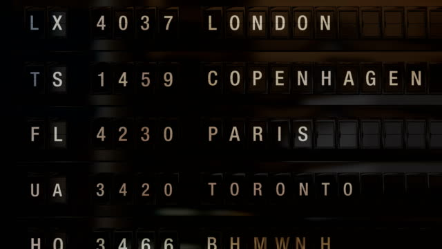 airport departure board - europe stock videos & royalty-free footage