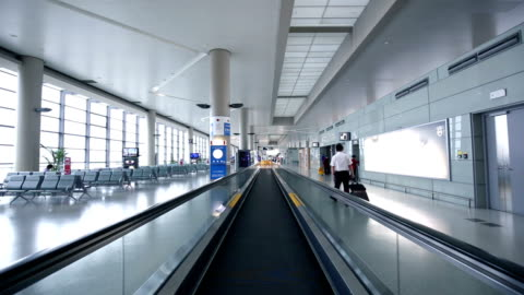 ws pov airport departure lounge / shanghai, china - gate stock videos & royalty-free footage