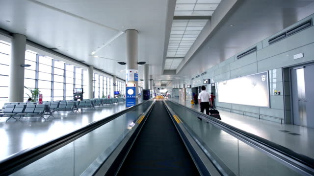 ws pov airport departure lounge / shanghai, china - luggage stock videos & royalty-free footage