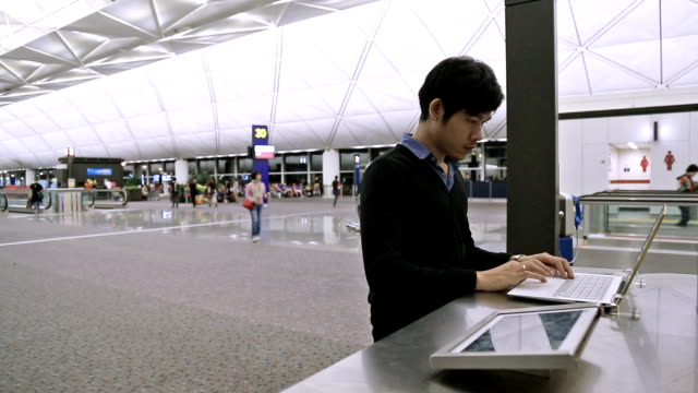 airport free internet - booth stock videos & royalty-free footage