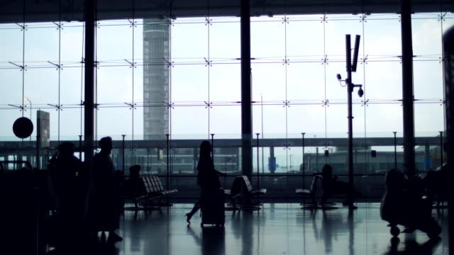 airport gates at corridor transit - concepts & topics stock videos & royalty-free footage