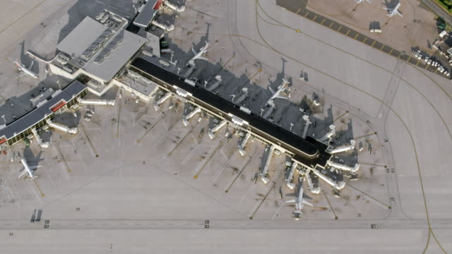 aerial airport in philadelphia, pennsylvania - runway stock videos and b-roll footage