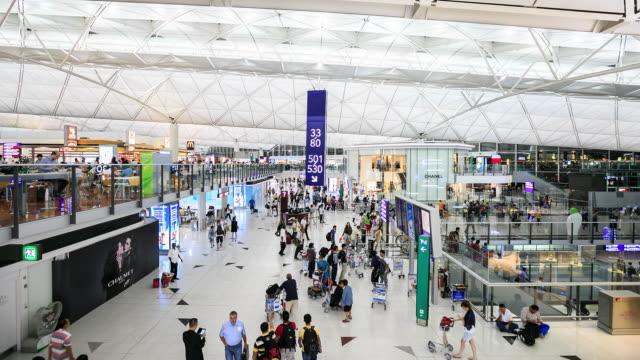 airport in the hong kong - hong kong international airport stock videos and b-roll footage