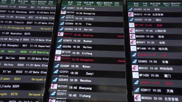 airport information display - digital signage stock videos & royalty-free footage