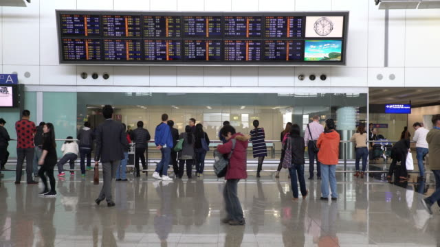 airport interior / hong kong, china - digital signage stock videos and b-roll footage