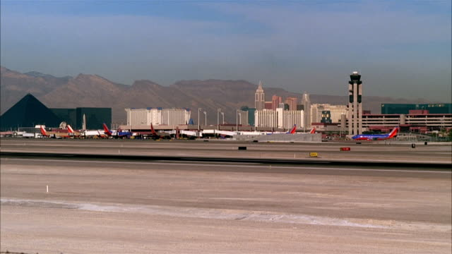ws, airport, las vegas, nevada, usa  - establishing shot stock videos & royalty-free footage