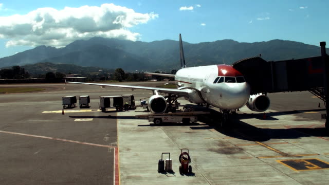 airport loading - asphalt stock videos and b-roll footage