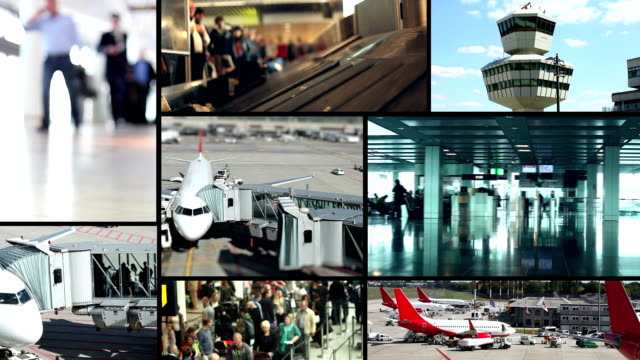airport - montage - film montage stock videos & royalty-free footage