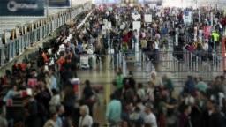 Airport Of Santiago De Chile. Time Lapse.