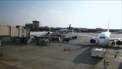 airport operations fast motion time lapse - fast motion stock videos & royalty-free footage