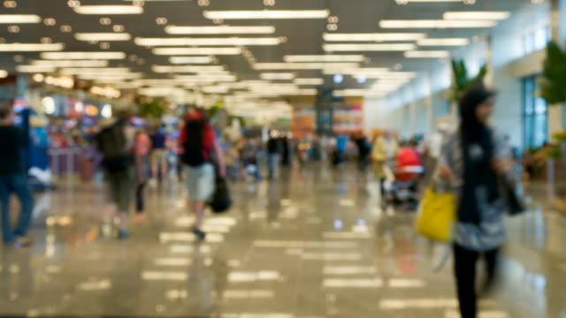 airport  passenger terminal - airport terminal stock videos & royalty-free footage