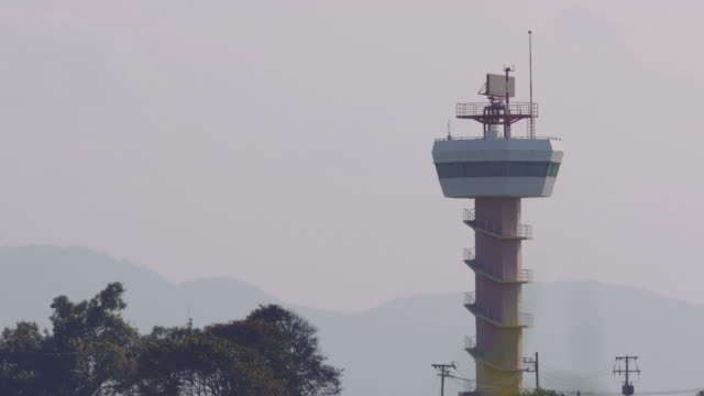 airport radar tower - tower stock videos & royalty-free footage