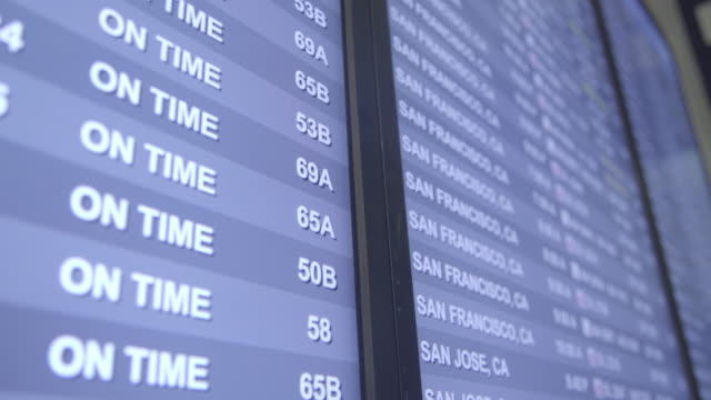 airport screen - los angeles - digital signage stock videos & royalty-free footage