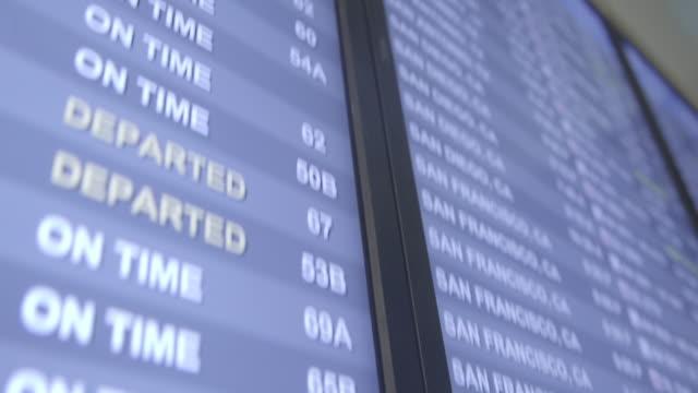 flygplats-skärm - los angeles - digital skyltning bildbanksvideor och videomaterial från bakom kulisserna