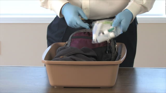 Airport Security Searches Carryon Items