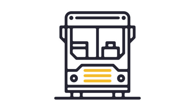 Airport Shuttle Line Icon Animation with Alpha